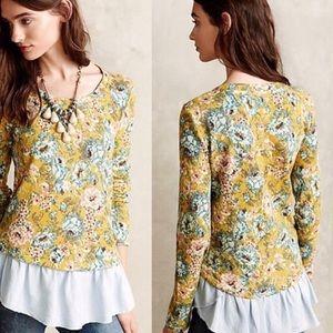 Lilka Goldenrod Ruffled Pullover Sweatshirt